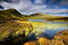 Loch Skeen (.Brian Kerr Photography.) Tags: lighting light sky sunlight water clouds reeds landscape scotland waterfall rocks shadows scottish loch moffat scottishborders greymarestail lochskeen briankerrphotography