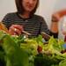Jessica and salad