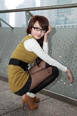 [フリー画像] 人物, 女性, アジア女性, 眼鏡・メガネ, 201102211500