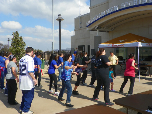 Zumba classes were held throughout the afternoon at the NFL/LULAC Feria de Salud on Jan. 30.
