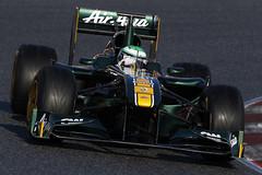 Heikki (2011 Team Lotus photo archive) Tags: barcelona 11 f1 testing formulaone feb formula1 esp catalan gp montmelo gbr spn jarnotrulli 2011 ontrack heikkikovalainen t03 teamlotus t1282011