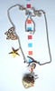 Tattoo Necklace - Butterfly Star Retro