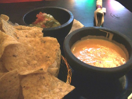 Queso, guac and chips
