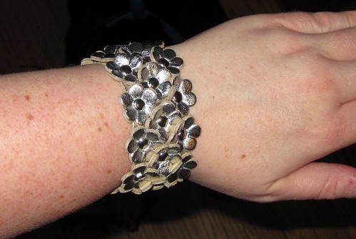 Flower cuff close-up