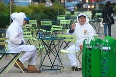 just a little bit (bytegirl24) Tags: nyc newyorkcity streets workers chairs manhattan midtown tables trashcans sidewalks heraldsquare