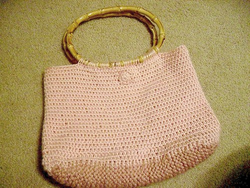 soft pink bamboo purse at tyler handmade
