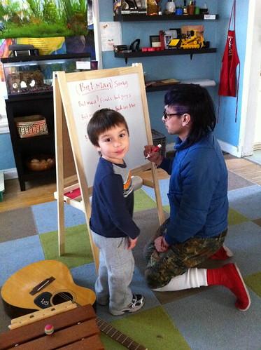 Finn and Teacher Art