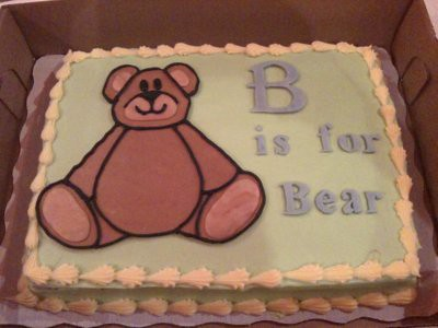 B is for Bear Cake