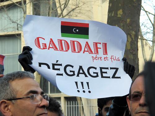 Kadhafi dégage