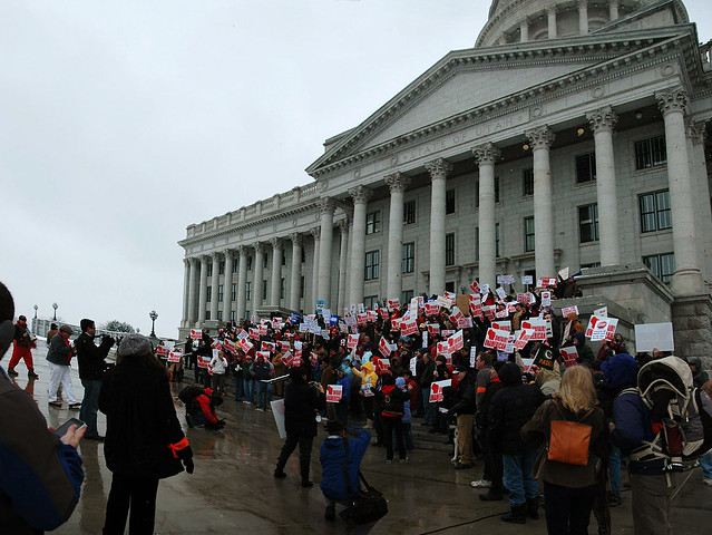 Pics of Salt Lake's rally in support of Wisconsin's workers