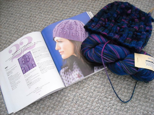 Unfinished Bobbles & Cables Cap