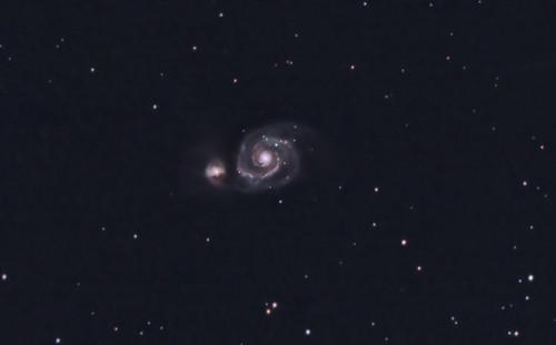 M51 - The Whirlpool Galaxy close up (27-02-2011)