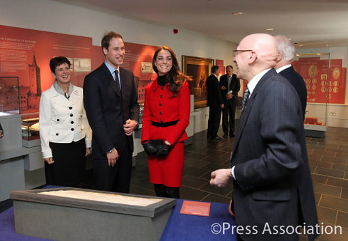 Prince William and Catherine Middleton visit St. Andrews