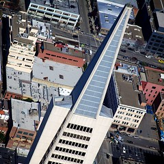 Spire (Chris Saulit) Tags: sf sanfrancisco california building northerncalifornia airplane fly flying tour pyramid aircraft aviation flight aerial bayarea norcal transamerica skyhawk cessna 172 generalaviation baytour 172sp