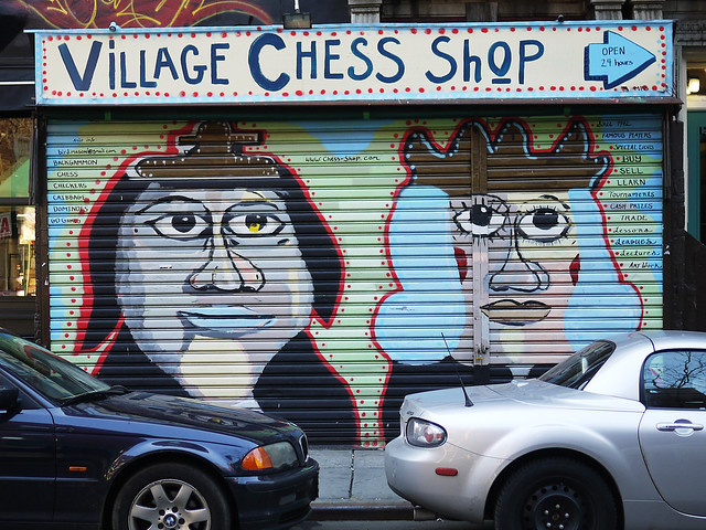 Village Chess Shop Mural #walkingtoworktoday