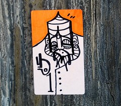 In Bushwick (LoisInWonderland) Tags: streetart brooklyn graffiti sticker