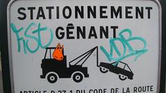 stationnement génant (mc1984) Tags: art sticker handmade massilia mc1984 aleister236