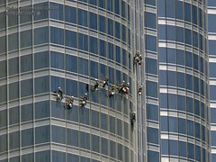 Burj Khalifa windows cleaning, Downtown Dubai, 04/March/2011 by imredubai