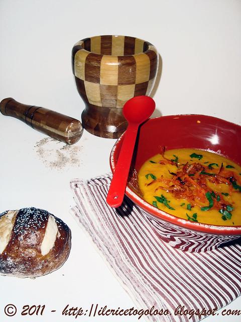 Zuppa di carote al succo di arancia