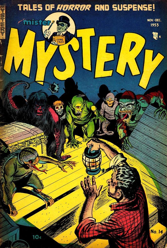 Mister Mystery #14 Bernard Baily Cover (Aragon, Magazines, Inc. 1953)