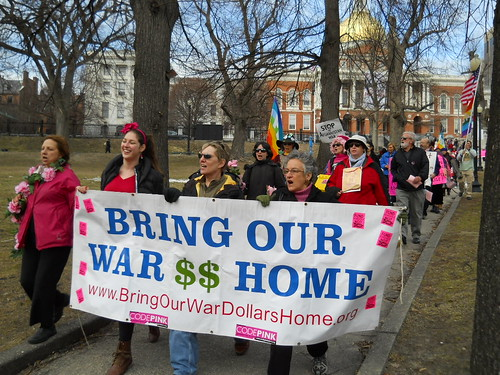 March from State House MA by codepinkhq