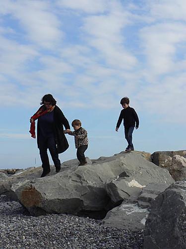trois sur un rocher
