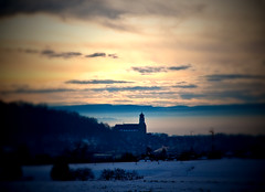Herrenberg (Michad90) Tags: winter sky snow church clouds sunrise germany nikon kirche herrenberg d90