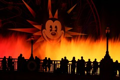World of Color Wednesday... (Ring of Fire Hot Sauce 1) Tags: light color water silhouette night disneyland mickeymouse fountains disneycaliforniaadventure paradisepier worldofcolor waltdisneyswonderfulworldofcolor canont1i