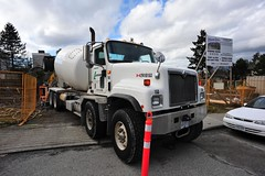 Lafarge International concrete mixer truck #153 (D70) Tags: street winter canada truck concrete is site construction nikon bc north under mixer international condo burnaby 20mm avenue complex parc f28 41 inman lafarge unit 153 5655 northparc