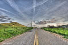 Clouds and Jet Trails (Sheree Altobelle) Tags: california clouds photoshop photographer hdr visalia centralvalley centralcalifornia cs4 photomatix tularecounty d700 yokohlvalley nikkor1424mm shereealtobelle 3bracketshot