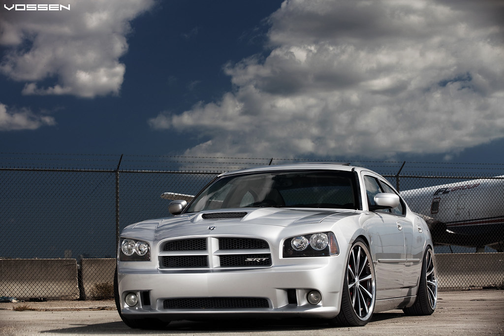 Static Stanced Dodge Charger Vossen Wheels