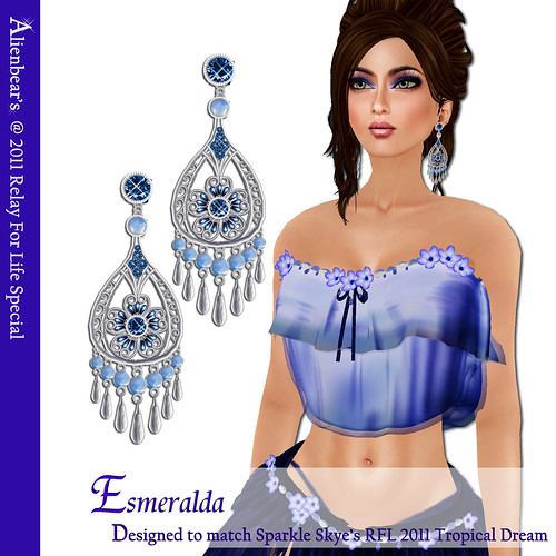 RFL 2011Esmeralda earrings models blog