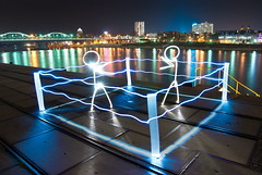 the fighting light (Stephan Pabst) Tags: lightpainting nikon hafen rhein mannheim 2011 d80