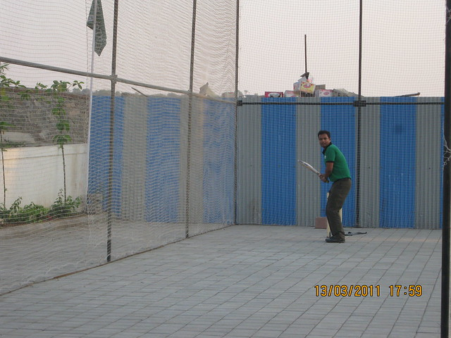 Cricket Net at Teerth Towers, 9 acre township of 2 BHK & 3 BHK Flats, behind Mercedes Showroom, at Baner-Sus Pune 411 021
