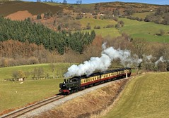 garth y dwr (midcheshireman) Tags: wales train landscape steam locomotive llangollen greatwestern panniertank 64xx