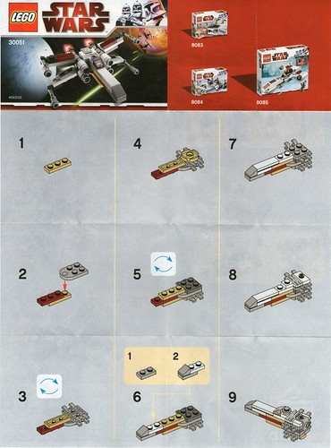 Lego Mini X Wing 30051 Instructions Page 1 A Photo On Flickriver