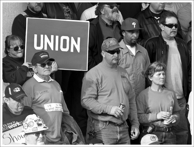 Working Families Rally 8 BW
