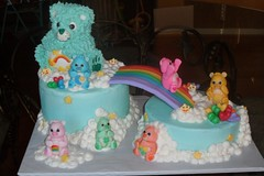 "Care bears birthday cake • <a style=""font-size:0.8em;"" href=""http://www.flickr.com/photos/60584691@N02/5524766033/"" target=""_blank"">View on Flickr</a>"