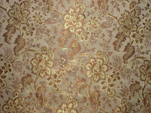 Silk Brocade Fabric Brown Amp Gold Colour 44 Quot