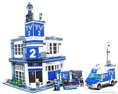 Lego City TV News Station (lgorlando) Tags: city news studio lego tvstation 10218 cafecorner