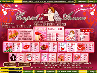 free Cupid's Arrow slot mini symbol