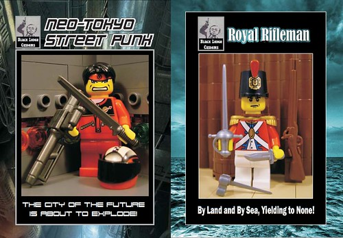 Custom minifig Black Lodge Custom Figs for Bricks By the Bay 2011 - Neo-Tokyo Street Punk (V2) and Royal Rifleman!