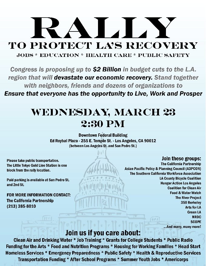 Rally to Protect LA's Recovery