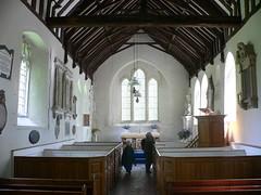 St Peter's, Folkington (Clear Lady) Tags: england stpeters church sussex pews pulpit beams southdowns vogonpoetry folkington