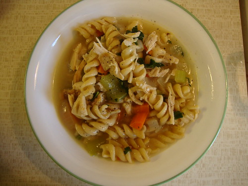 chicken noodle soup from Cooking Light cookbook