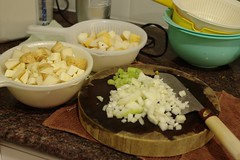 Parsnip, Carrot and Asian Pear Soup Mise en Place