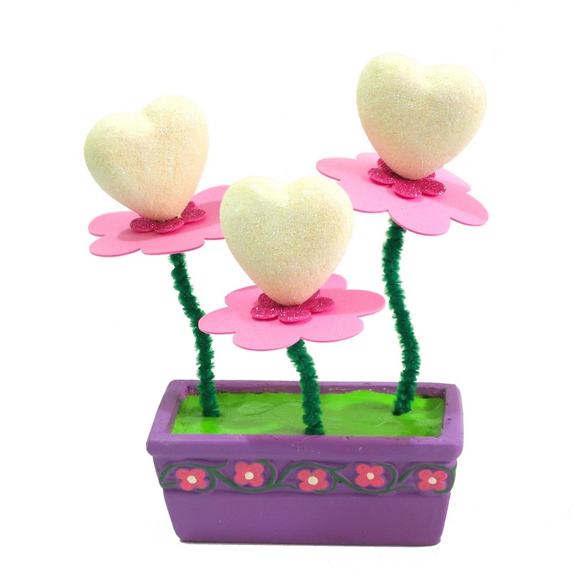 Hearts planter - Crafts idea for kids
