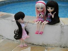 As Fifis... ( Angel in Wonderland ) Tags: pink white branco aya doll ebay g rosa wig pullip sb emilly obitsu 27cm
