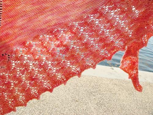 Rainbow Sherbet Ishbel shawl