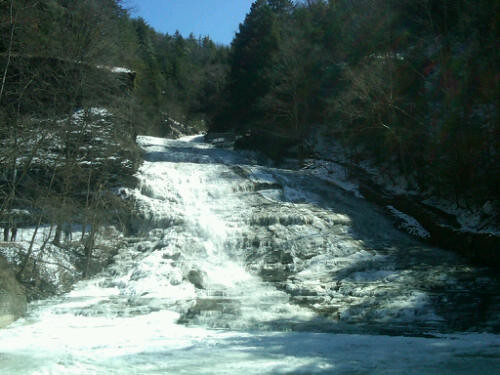 Buttermilk Falls in Ithaca, NY